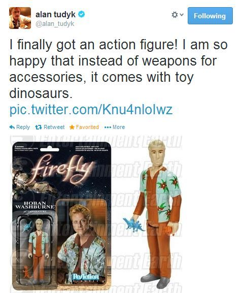 Alan tweets about the Wash action figure