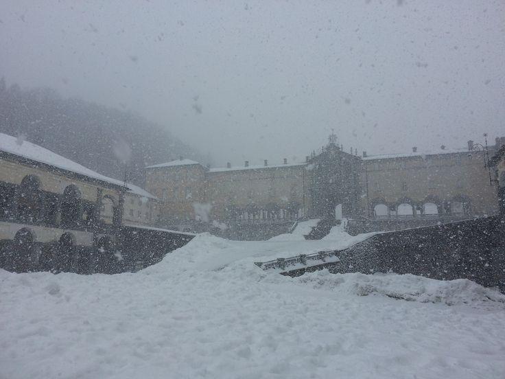 #oropa #Biella #Piemonte  #neve #snow #winter #inverno #montagna #MadonnaNera #BlackMadonna