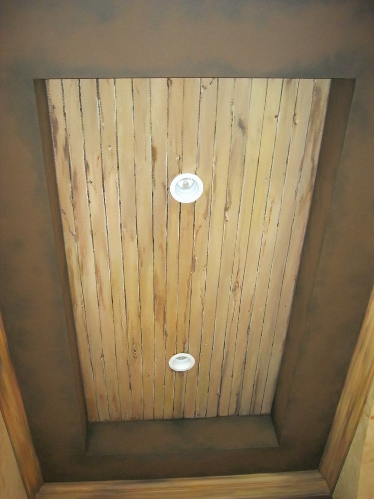 Faux wood cieling.     www.dwcustommurals.com, Dream Walls Murals and Faux Finish, By Artist Alfredo Montenegro