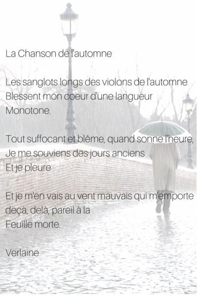 la chanson de l'automne by Paul Verlaine French poem and poets by Selfrench
