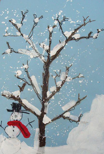 lumipuu ja lumiukko