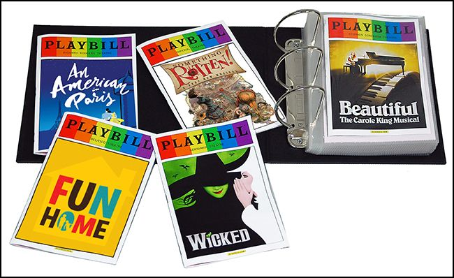 Complete Set of all 33 June 2015 Rainbow Pride Playbills PLUS Two Ultimate Playbill Binders $189.95
