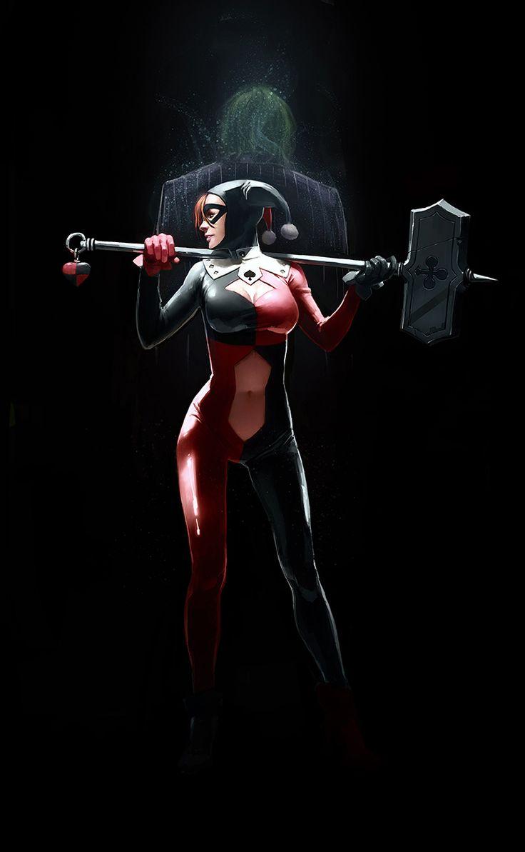 Harley by Kurunya: Gotham, Harleyquinn, Comic Books, Jokers, Superheroes, Harley Queen, Comic Art, Super Heroes, Harley Quinn