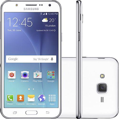 Smartphone Samsung Galaxy J7 Duos Dual Chip Desbloqueado Android 5.1 5.5 16GB 4G 13MP - Branco De: R$ 1.399,00 R$ 1.249,00  (10% de desconto) 10x de R$ 124,90 sem juros Ver parcelas R$ 1.099,12 (12% de desconto) no boleto bancário