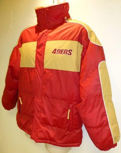 San Francisco 49ers Jacket Football Puffer Coat Mens Shirt Top NFL Reebok | eBay