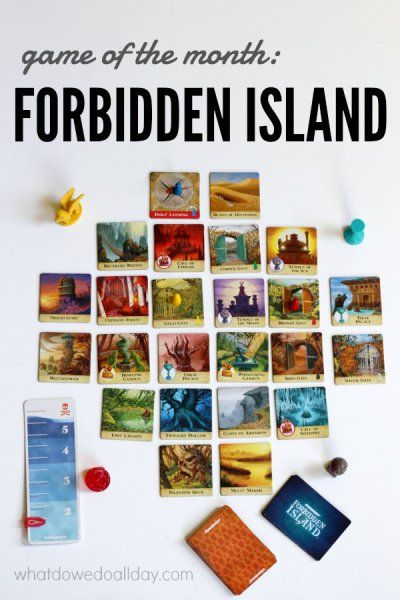 Forbidden Island is a fun family cooperative board game, looks like a good game to add into our mix