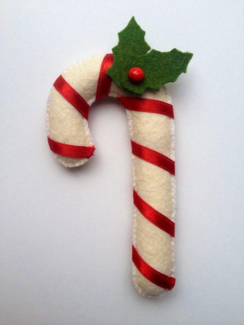 cukorpálca, Dekoráció, Karácsonyi, adventi apróságok, Ünnepi dekoráció, Karácsonyfadísz, Meska
