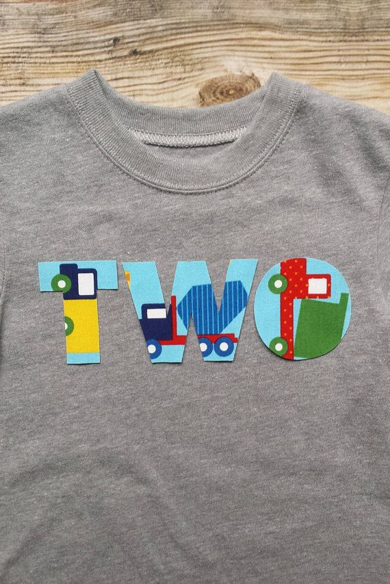 Boy Construction Birthday Shirt Toddler Party Cement Truck Two