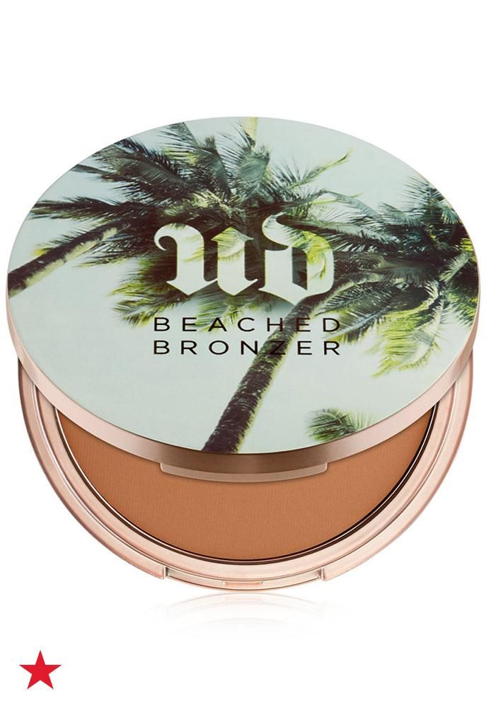 Keep up your sun-kissed glow all year long with Urban Decay's Beached Bronzer. The super soft, streak-resistant formula can even be applied wet for longer wear. Click to shop at Macy's.