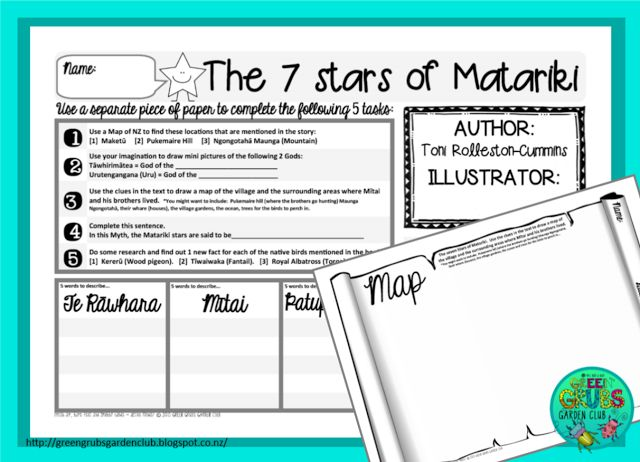 Best Matariki books for Primary { FREE follow up activity sheets} by Green Grubs Garden Club