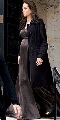 Angelina Jolie's Maternity Style - April 10 from #InStyle