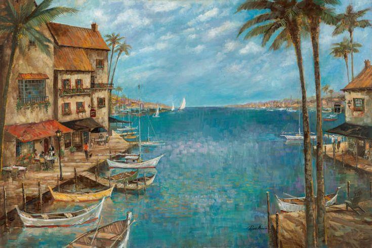 Mediterranean Port I by Ruane Manning - Art Print Framed & Unframed at www.framedartbytilliams.com