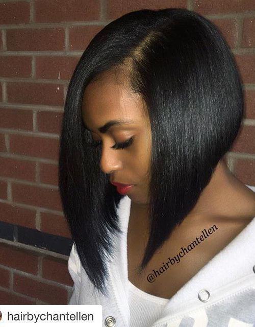 21 Eye-catching A-line Bob Hairstyles   17. Jet black A-line bob   AsymmetricalHairstyles 49113e965d