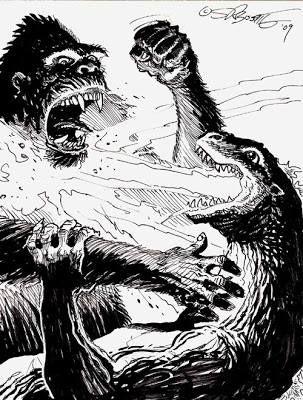 King Kong vs. Godzilla by Steve Bissette