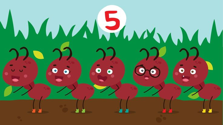 Practice counting to 5 with the Kiboomu Kids Song Video, The Ants Go Marching One by One Song! #kidsvideo #preschool #counting
