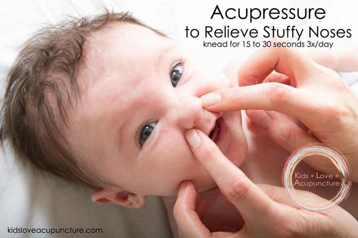 Acupressure is one of the easiest and fastest ways to treat nasal congestion in babies and kids.