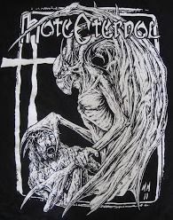 Hate Eternal logo and demon