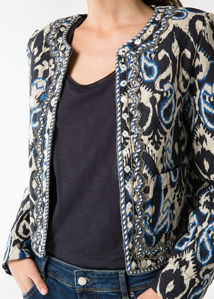 Beaded quilted jacket