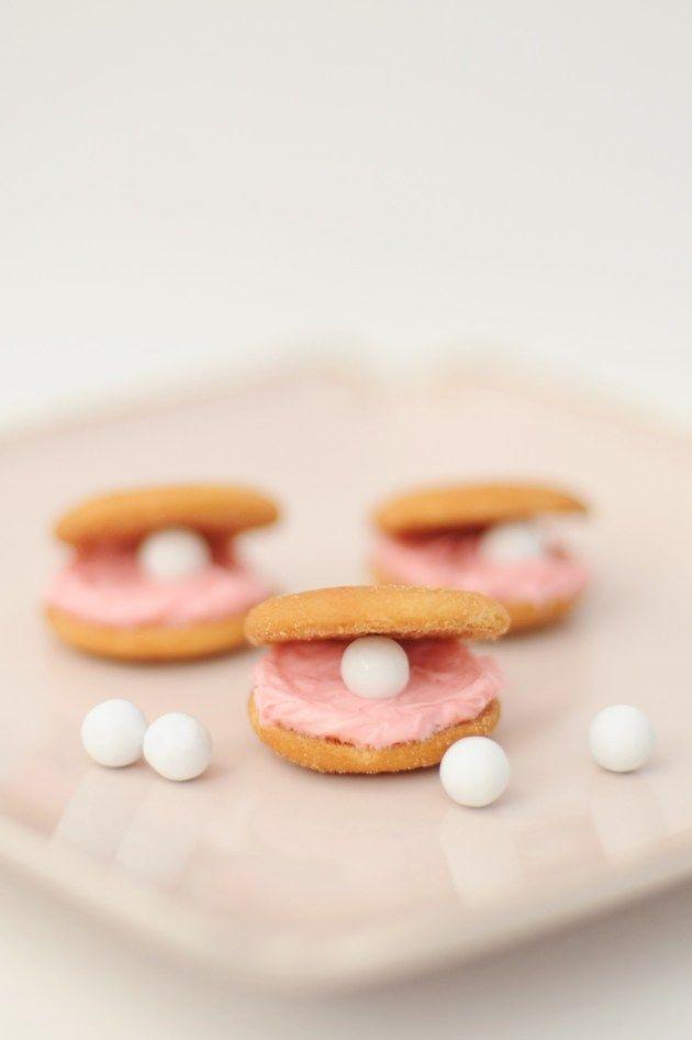 Party Food: DIY Clam Cookies for a Disney Teen Beach Movie 2 Party - Entertain | Fun DIY Party Craft Ideas