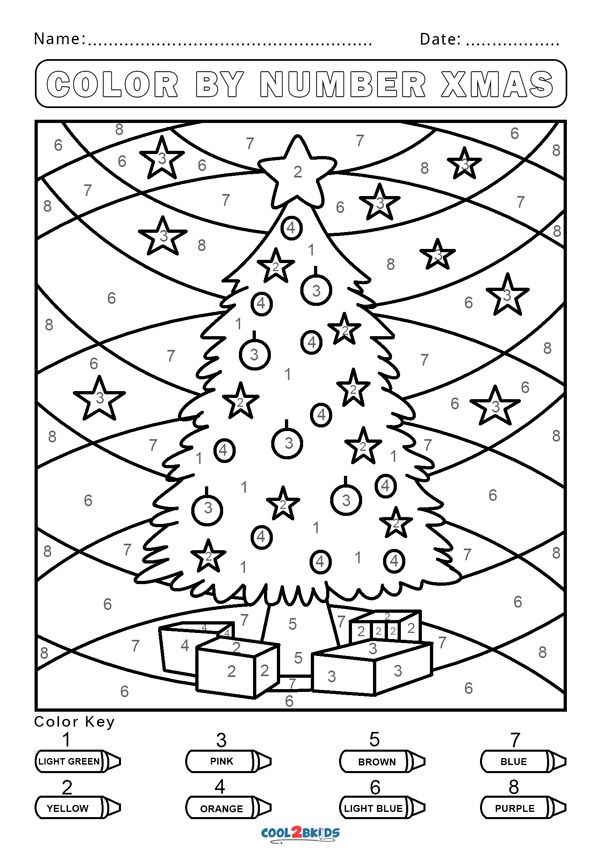 Free Color By Number Worksheets Cool2bkids Christmas Worksheets Christmas Kindergarten Preschool Christmas
