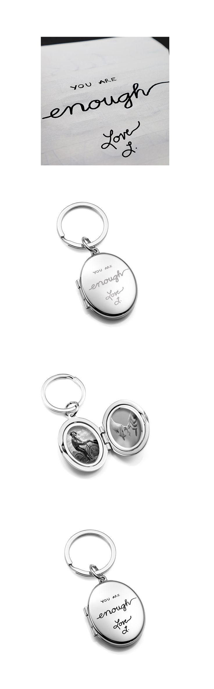 lockets keychain necklace ztyleco plain set photo locket round products silver