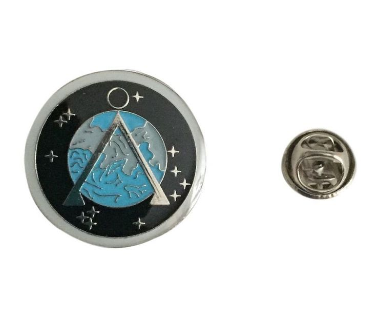 Stargate SG-1 Project Earth Logo Enamel Metal Lapel Cosplay Pin
