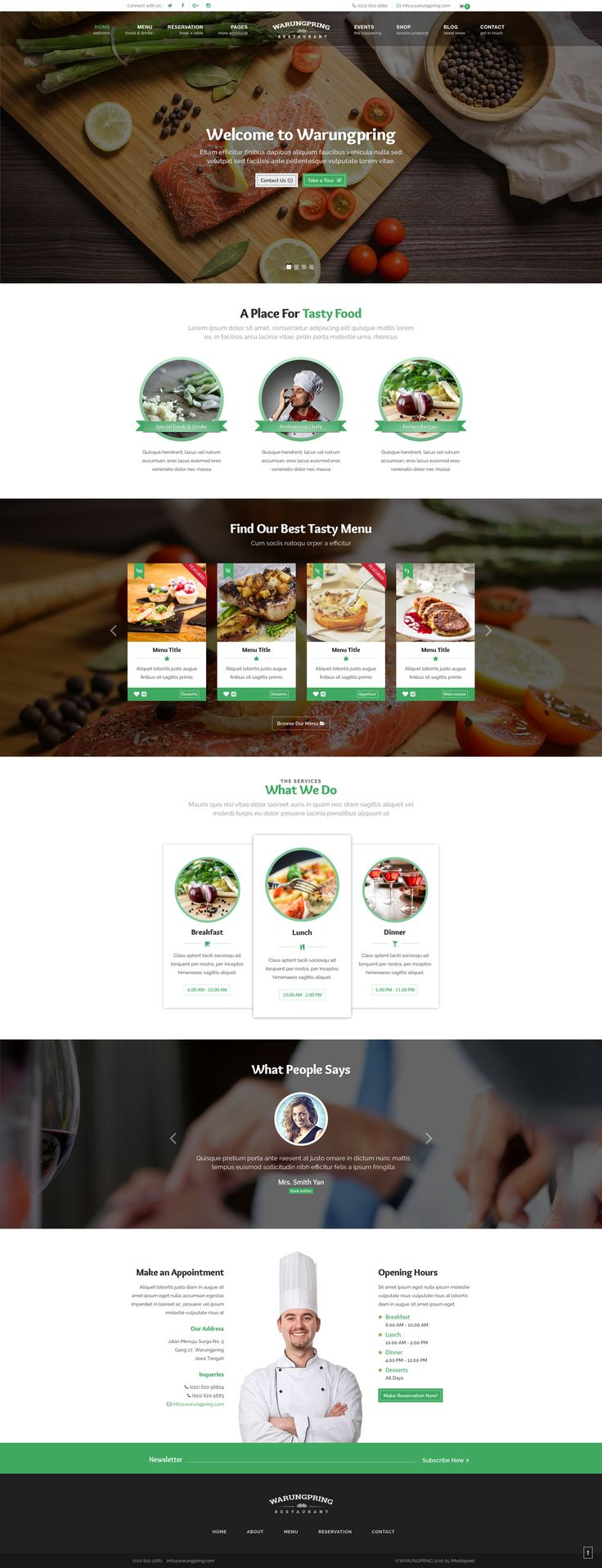 Warungpring - Restaurant HTML Template #site #coffee shop #blue • Download ➝ https://themeforest.net/item/warungpring-restaurant-html-template/16163029?ref=pxcr