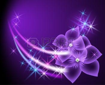 feu d artifice FLEUR: Fond rougeoyant de fleurs et d'étoiles