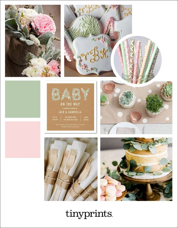 Find inspirational pink and green baby shower ideas for your big day and celebration.