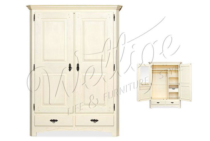 Шкаф для белья Lagos (Лагос) ARM LA 212 | Натуральная мебель из массива сосны в стиле Кантри для квартиры, коттеджа и загородного дома