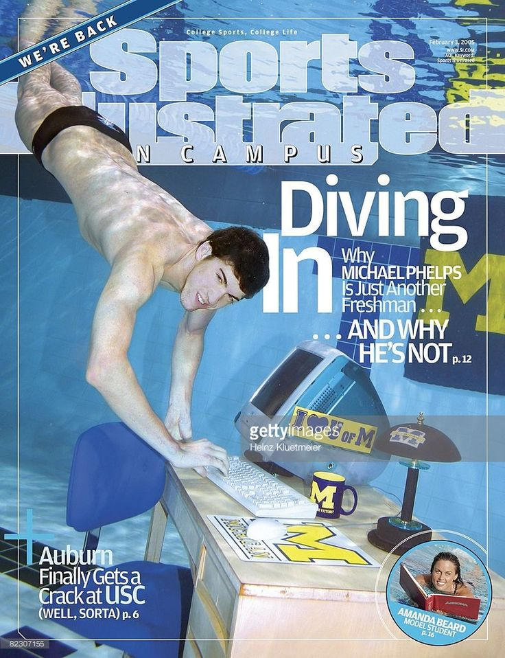 michael phelps when he swam for the university of michigan sports illustrated cover
