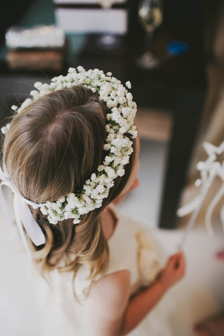 Babies Breath Halo by Zinnia Floral Designs.  Image by Jemima Photography » Perth Wedding Photographer