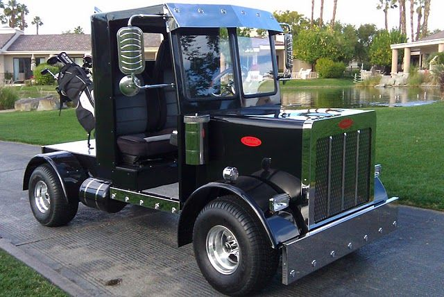 Golf Cart Bodies for Sale | present our second classybilt golf cart a replica of a peterbilt semi ...