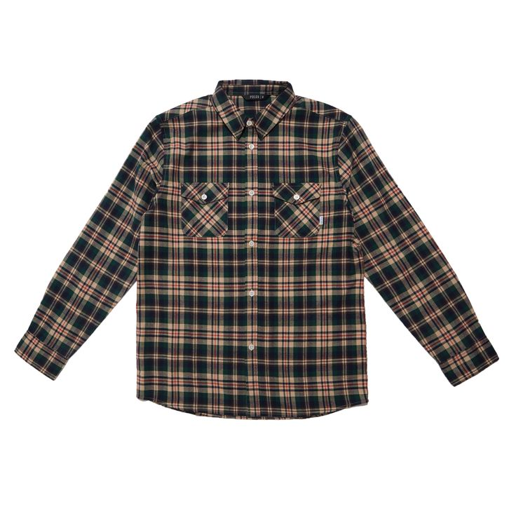Рубашка Poler - Beefalo Button Up L/S Shirt - Green Plaid
