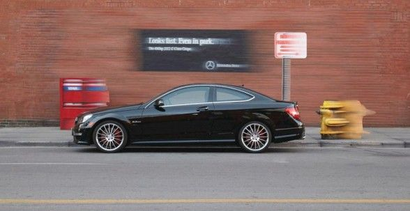 Mercedes-Benz  :  Looks fast. Even in park.The 450hp 2012 C-Class Coupe