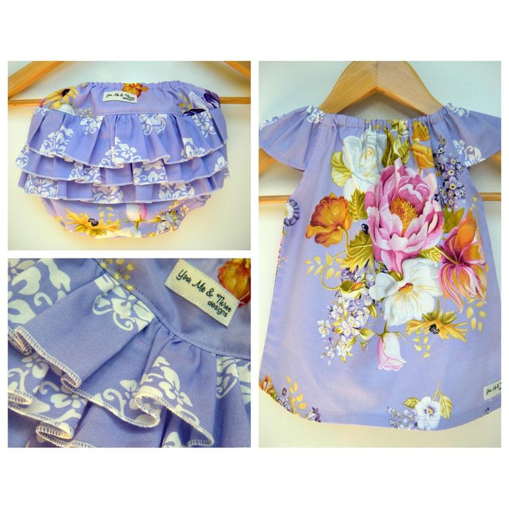 $50.00 Purple Botanika Dress Set by youmeandthreedesigns on Handmade Australia