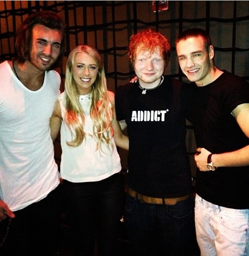 Andy, Georgia, Ed and Liam at the MSG after party (With ...