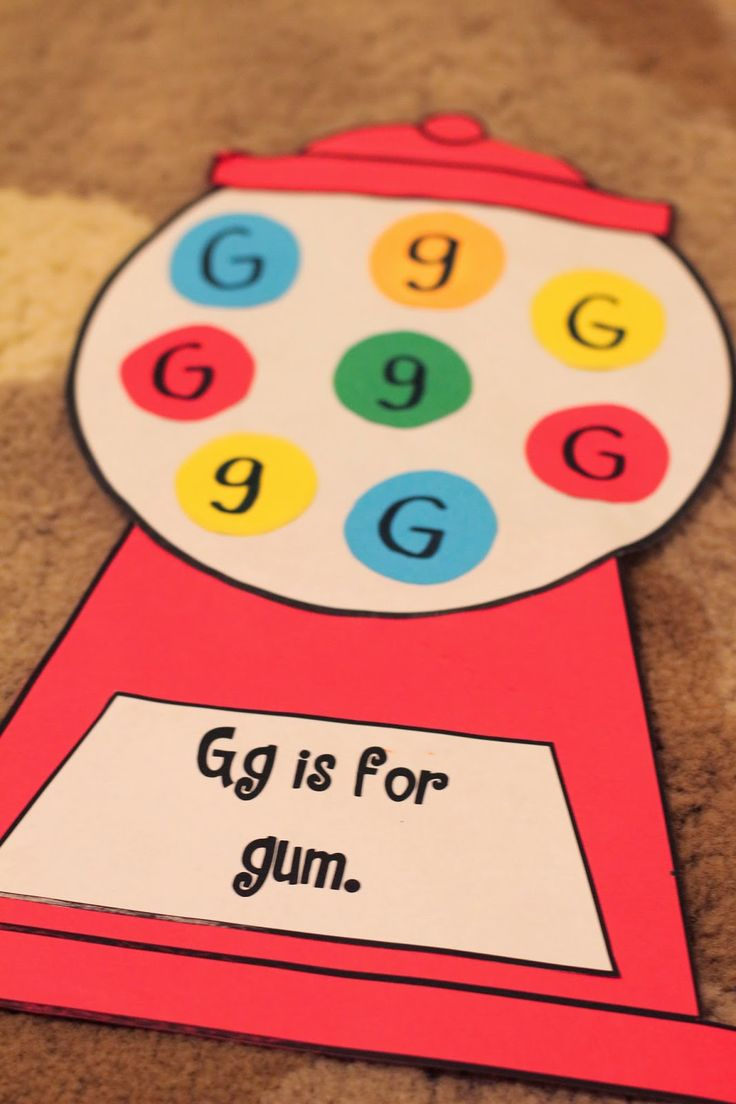 Mrs. Ricca's Kindergarten G is for gum
