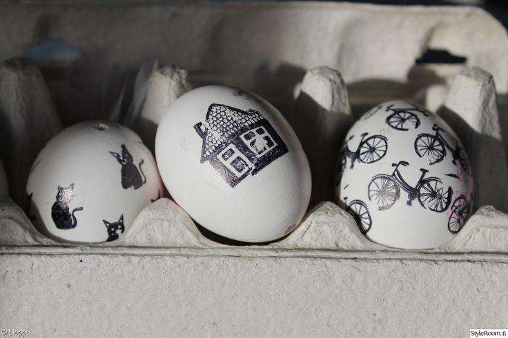 pääsiäinen,pääsiäismuna,leimaus,leima,kananmuna,kananmunat,mustavalkoinen,keittiö,Tee itse - DIY
