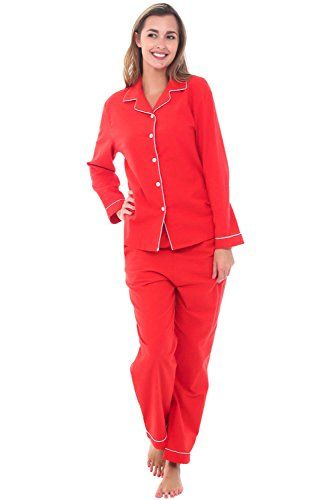 03608ff7232 New Alexander Del Rossa Womens Flannel Pajamas with Piping