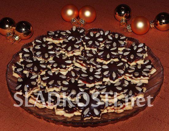 Jahodové rozetky s čokoládou dia