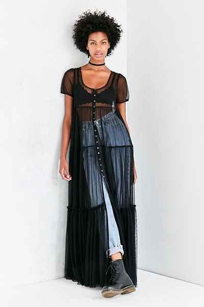 Kimchi Blue Sweeping Meadows Mesh Maxi Top