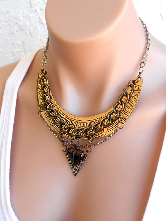 Free Shipping Vintage Necklace Choker Bib Gold Silver Bronze