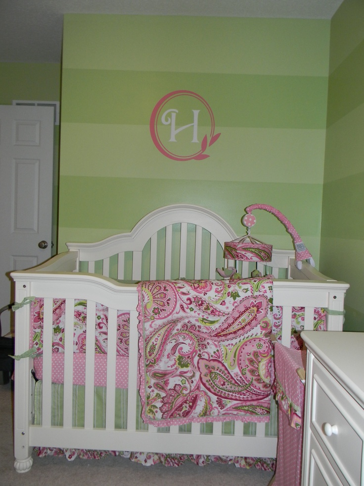 best 25 pink and green nursery ideas on pinterest girl nursery colors green nursery girl and. Black Bedroom Furniture Sets. Home Design Ideas