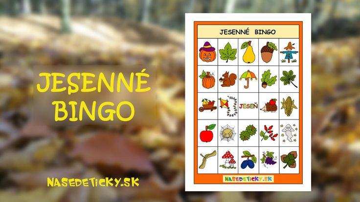 Zahrajte si jesenné BINGO s deťmi. Pripravili sme pre vás predlohy na vytlačenie.