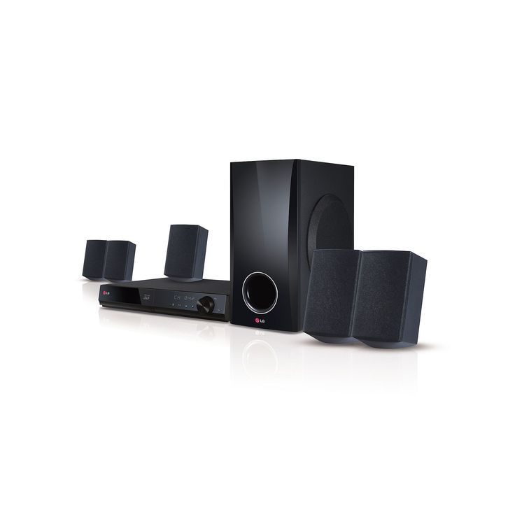 LG Smart 5.1-Channel Home Theater System and 3D Blu-ray Player, Multicolor