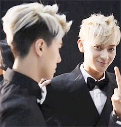 """Omg. Okay this is sehun """"tao..tao..let's make them cry and scream!!"""" Tao """"okay let's do it!!!!!"""" Sehun """"follow me!"""" -____- world's cutest maknaes. So done right now."""