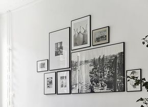 Muurcollages met fotolijsten zijn natuurlijk super leuk, maar hoe je die het beste op kunt hangen...