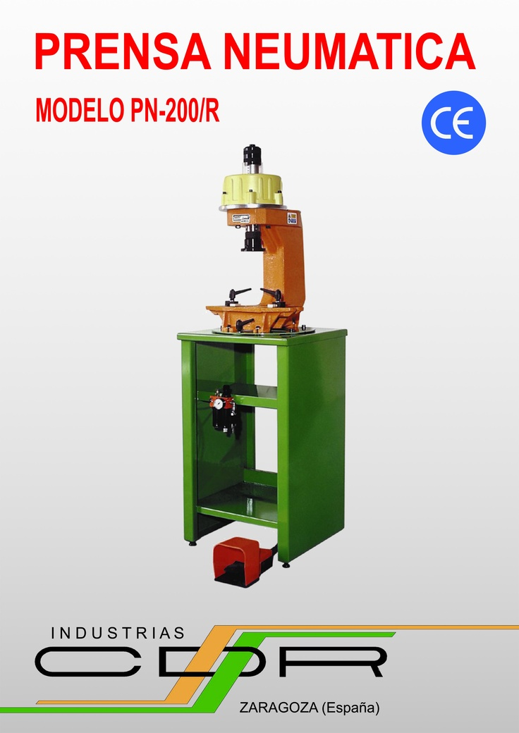 Prensa Neumática Modelos PN-200 y PN-200/R