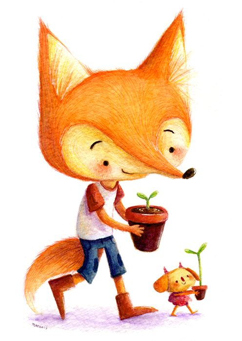The Simple Adventures of Milton & Stella by Teressa Ong, via Behance